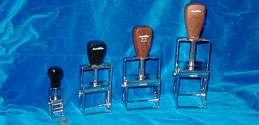 metal framed self inking stamps