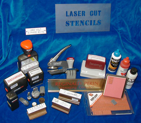 rubber stamps and related items